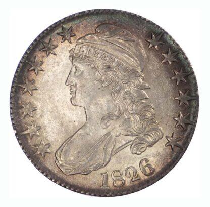 1826 USA Silver Half Dollar - 117a - Almost Unc
