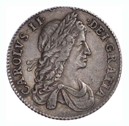 1663 Charles II Shilling First Bust Variety GVF