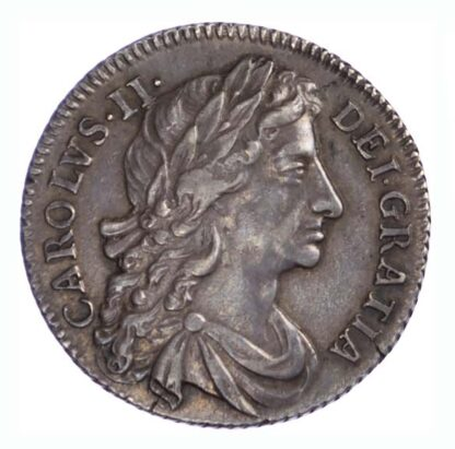 1684 Charles II Shilling Fourth Bust About EF
