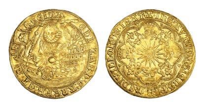 Elizabeth I Ship Ryal Sixth Issue Extremely Fine