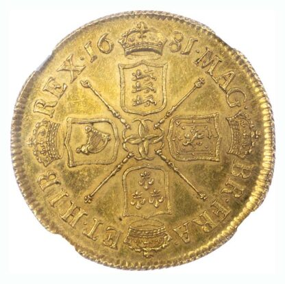 1681 Charles II Two Guineas MS63
