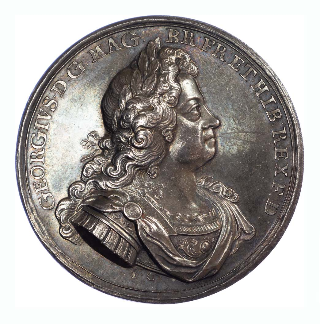 George I, Naval action off Cape Passaro, AR medal, 1718