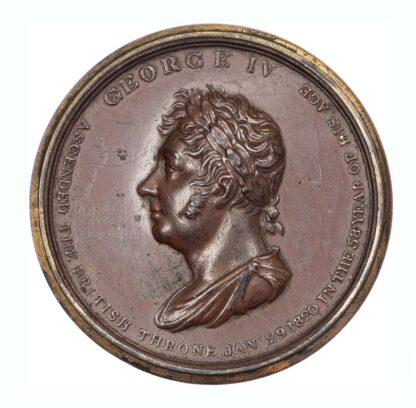George IV, Accession, copper box medal, 1820