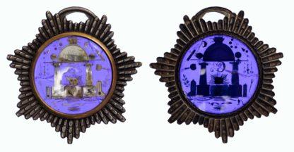 Freemason, Royal Arch AR enamel and jewel case, c1800