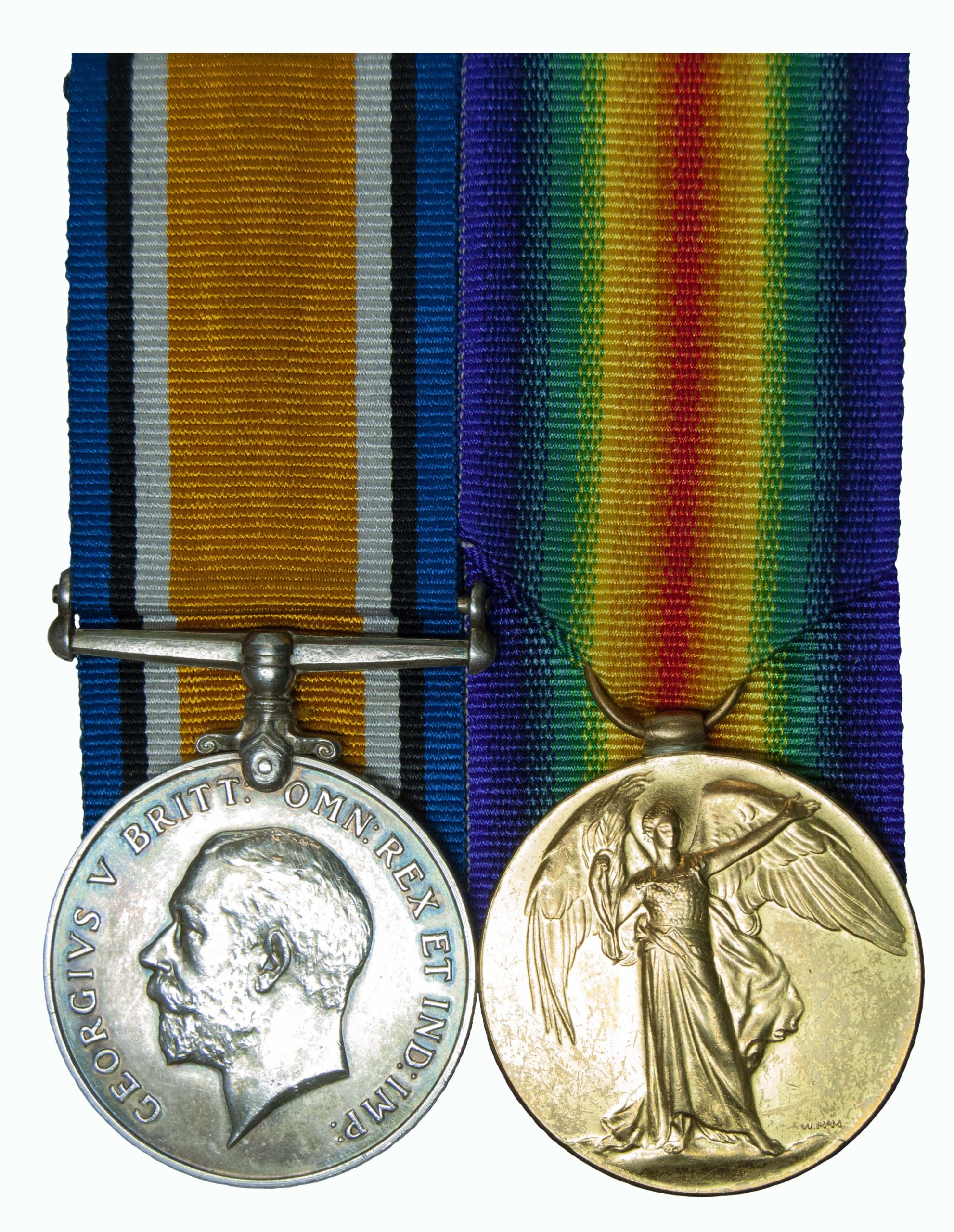 A Great War Officer Casualty Pair to 2nd Lieutenant David Abernethy