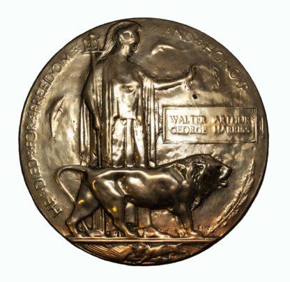 A Battle of Passchendaele Memorial Plaque to Private Walter Arthur George Harriss