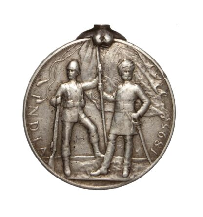India Medal 1895-1902, QVR, two clasps, to Sowar Ahmad Shah