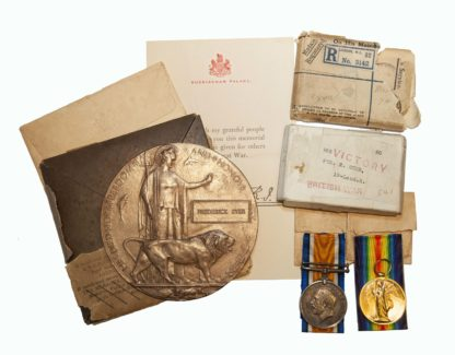 A Battle of the Somme Flers Line Bombing Party Casualty Group to Private Fred Syer