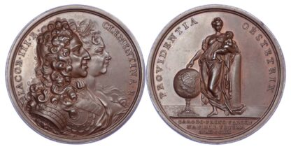 Jacobite, Birth of Prince Charles, Copper Medal 1720