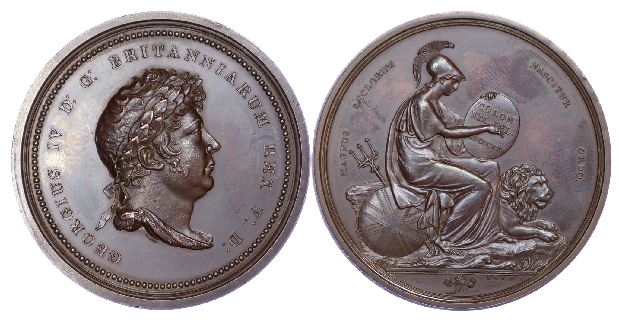 George IV, Coronation 1821, Copper medal