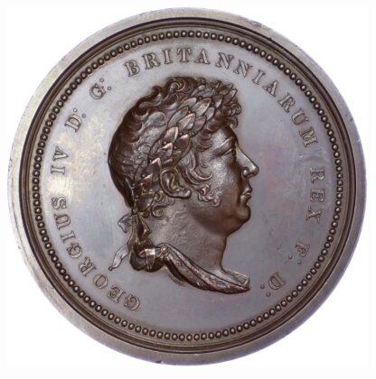 George IV, Coronation 1821, Copper medal