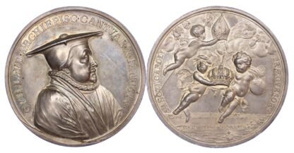 Great Britain, Archbishop Laud Executed, 1644, Silver Medal
