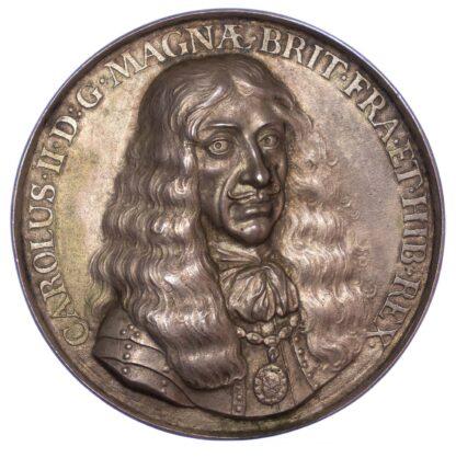 Charles II, Scheveningen, 1660, Silver Medal