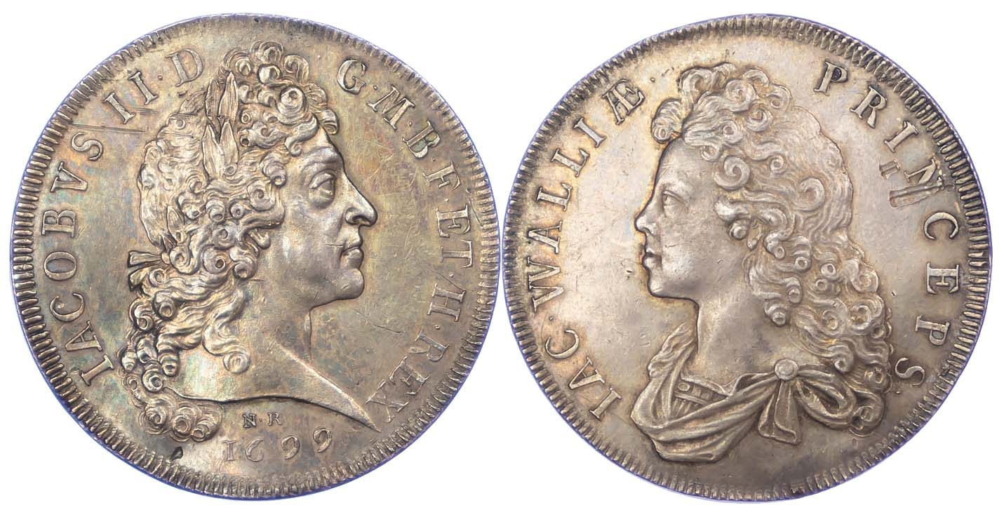 Prince James and Legitimacy, 1699, Silver Medal