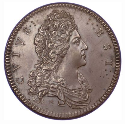 Jacobite, Attempted Invasion of Scotland, 1708, Copper Medal