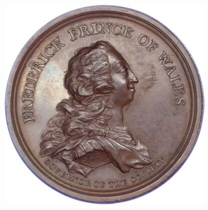 George II, Free British Fishery Society, 1750, Copper Medal