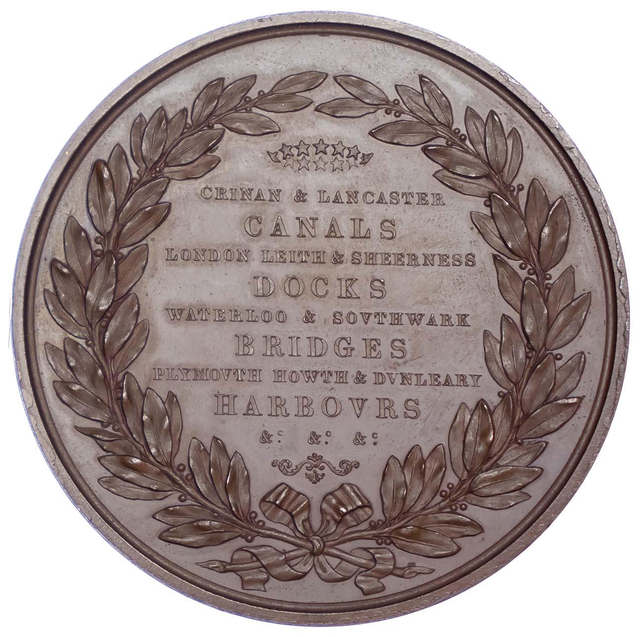 George IV, Death of John Rennie 1821, Copper medal