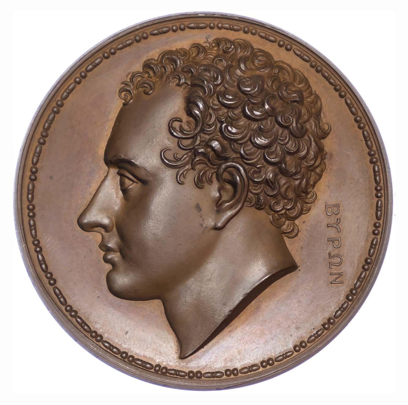 George IV, Death of Lord Byron, 1824, Copper Medal