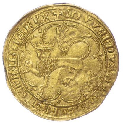 France, Anglo-Gallic, Edward III, 1357 Gold Leopard