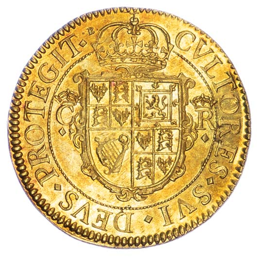 Charles I, Double crown, Nicholas Briot's first milled coinage (1631-32)