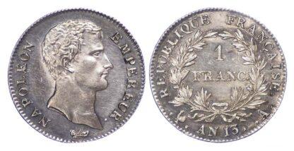 France, Napoleon, Paris Mint, 1 Franc, An 13