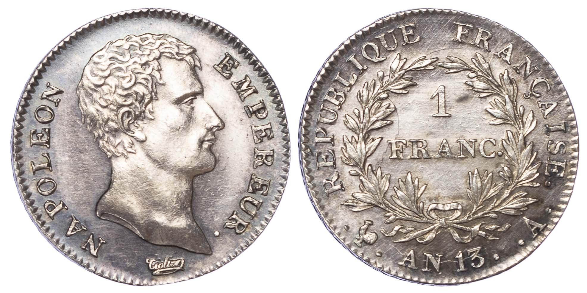 France, Napoleon (First Empire, 1804-1814), silver Franc