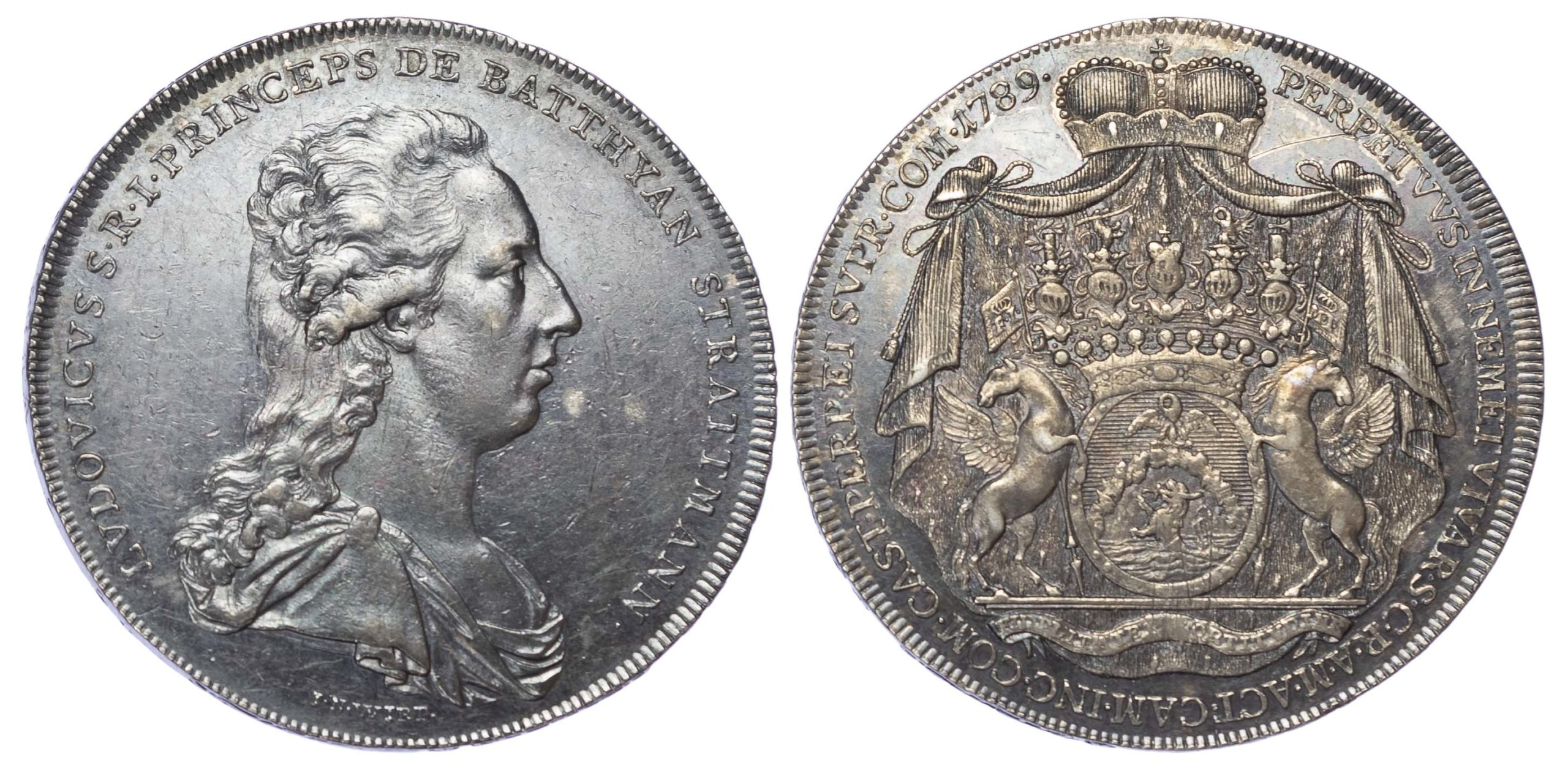 Austria, Batthyani, Ludwig, 1789 Silver Half Taler