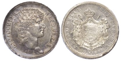 Italy, Naples, Joachim Murat (1808-15), silver 5 Lire, 1813