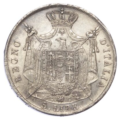 Italy, Kingdom of Italy (1805-14), Napoleon, silver 5 Lire, 1811 M