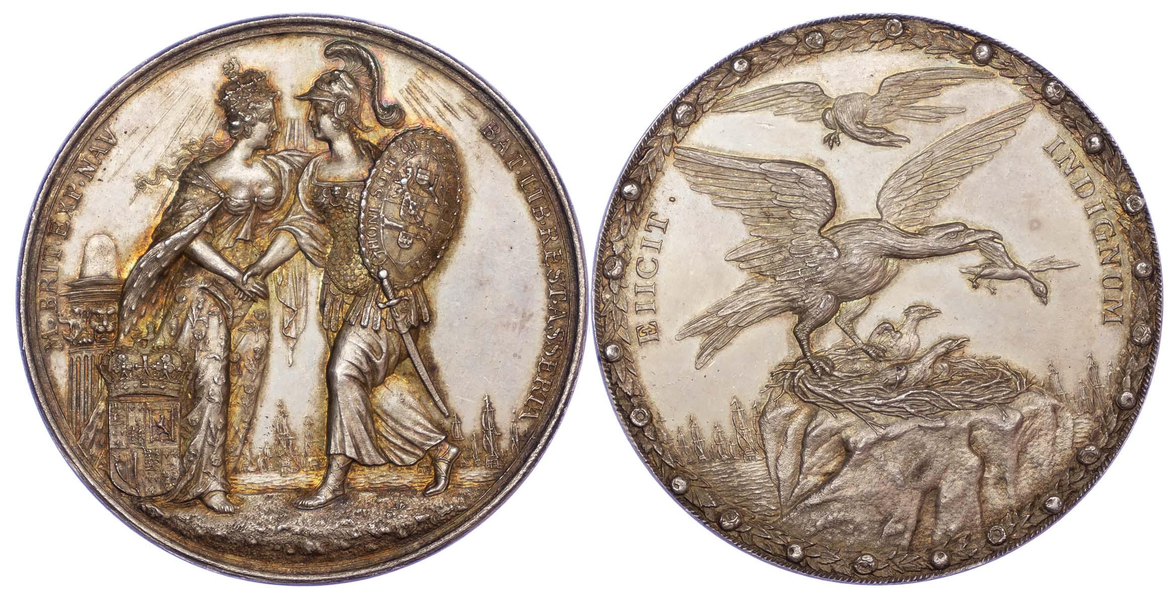 James II, Flight of Prince James, Silver Medal, 1688