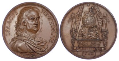 George II, Death of Isaac Newton 1727, Copper medal