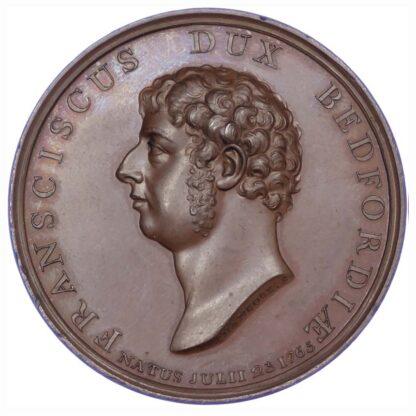 George III, Duke of Bedford Memorial 1802, Copper medal