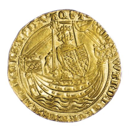 Edward III Noble S1502 - GVF to Near EF