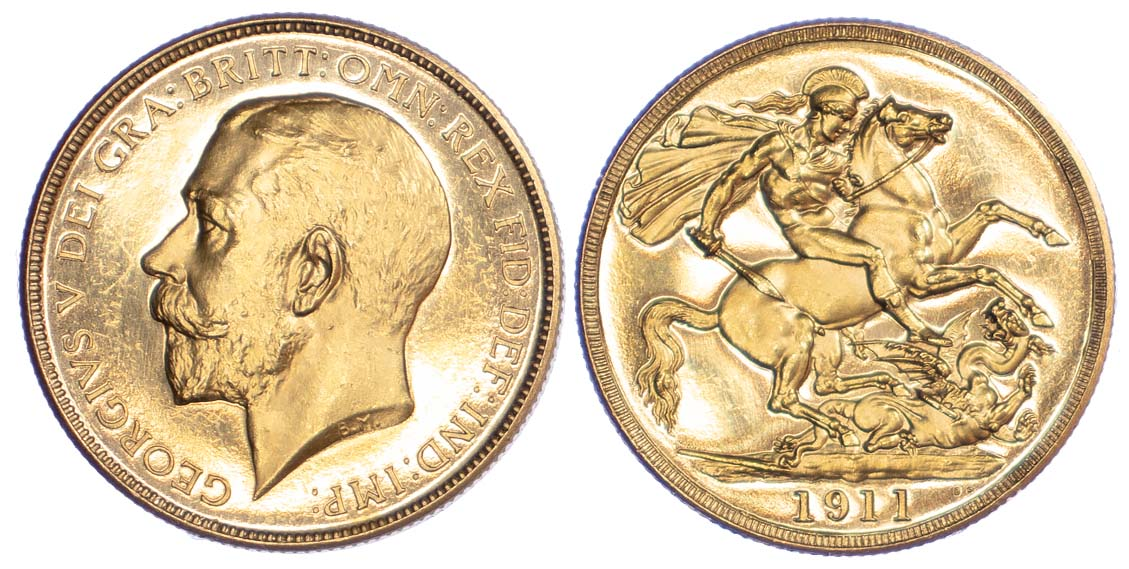 George V, 1911 Proof Two Pounds
