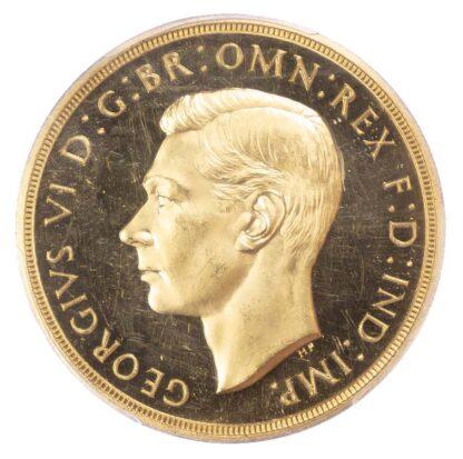 George VI, 1937 Proof Five Pounds Proof 63 Deep Cameo