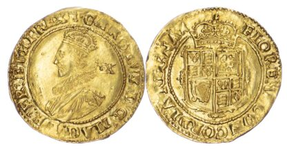 Charles I Unite Tower Mint, group B, class 1a