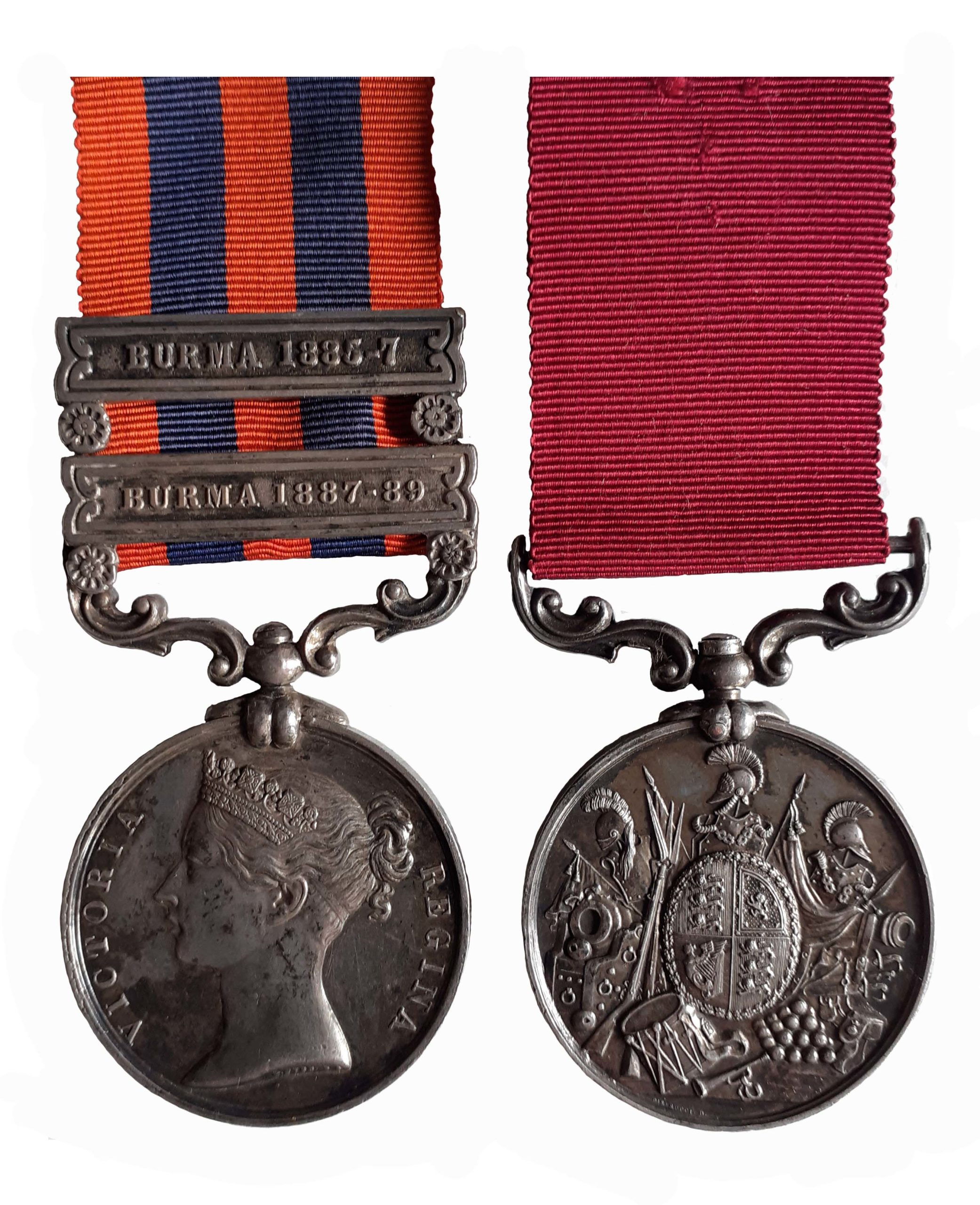 India General Service Medal, Long Service Pair to Drum Major J. Macclesfield