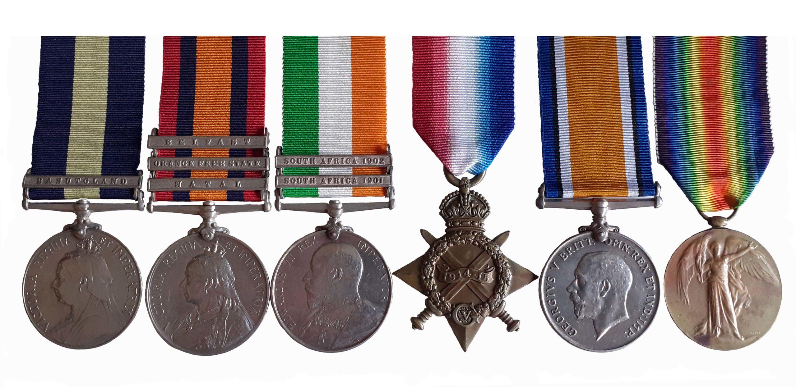 A Cape of Good Hope, Boer War, Great War Group of 6 to Captain Francis Disney Herbert