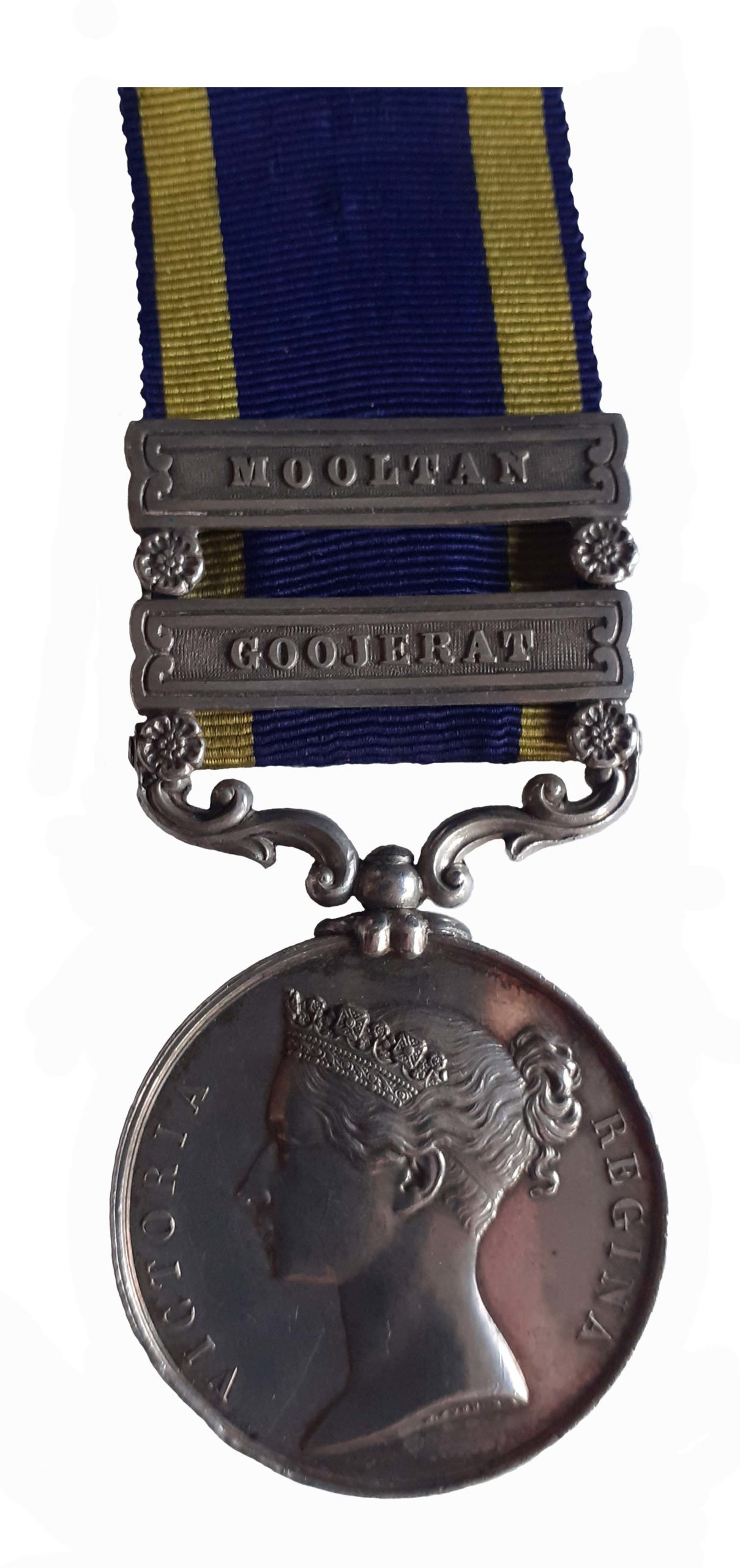 A Casualty Punjab Medal, 1848-49, two clasps to John Small
