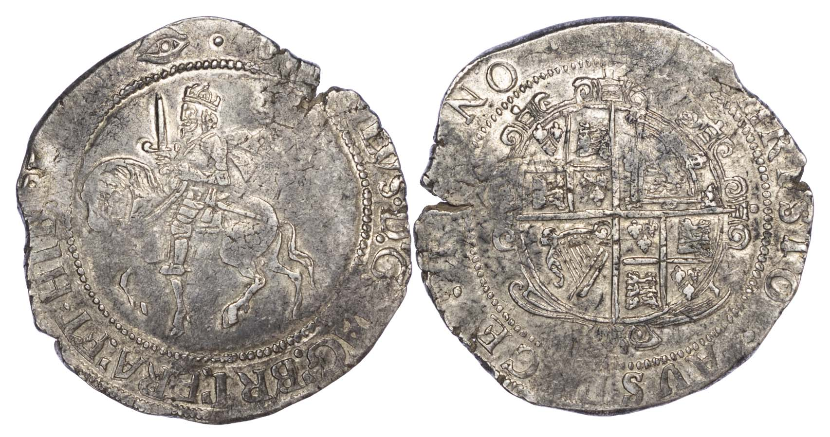 Charles I (1625-49), Halfcrown, type 3a3, mm eye
