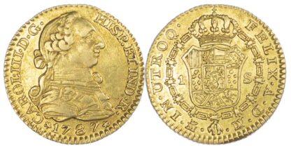 Spain, Carlos III, 1 Escudo 1787