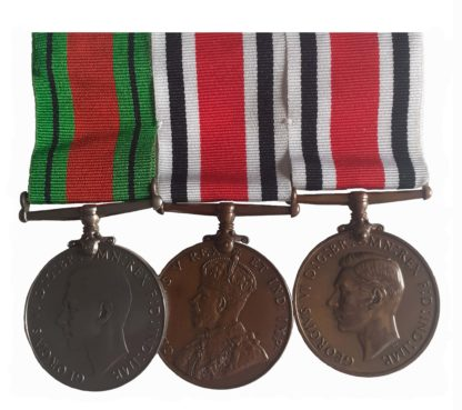An unusual George V and George VI, WW2, City of Bath Special Constable Group of 3 to Ernest Robert Goldsworthy