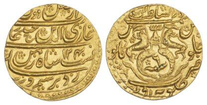 India, Princely States, Awadh, Ghazi al-din Haidar, Gold Ashrafi