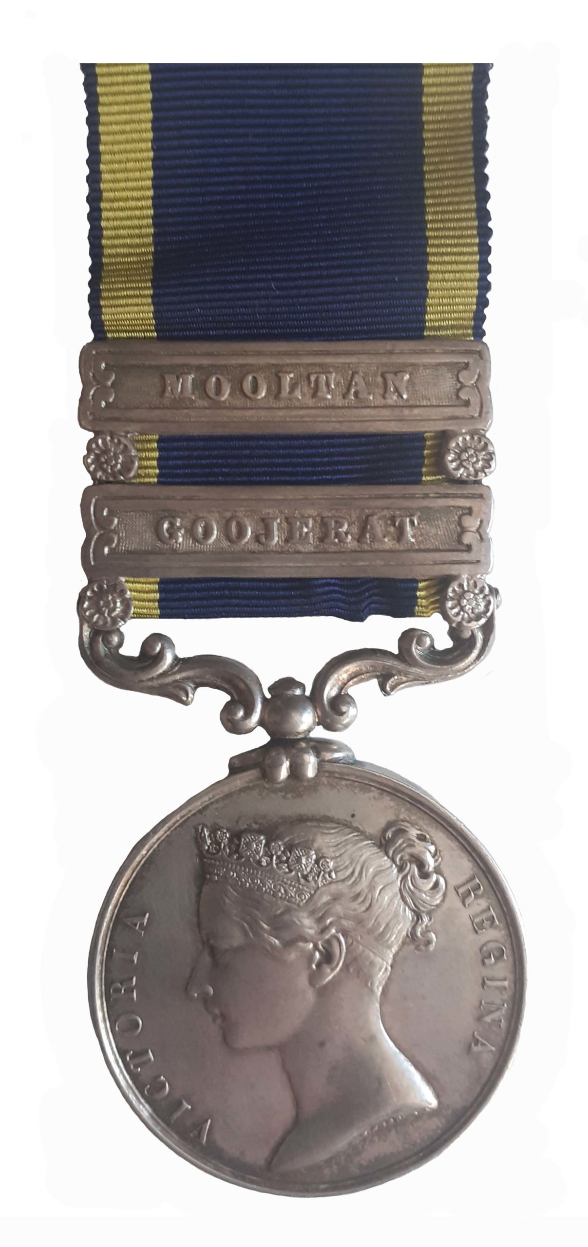 Punjab Medal 1845-46, two clasps, Goojerat, Mooltan to H. Riley