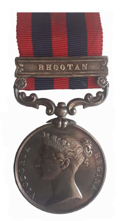 India General Service Medal 1854-95, one clasp, Bhootan to J. Griffiths