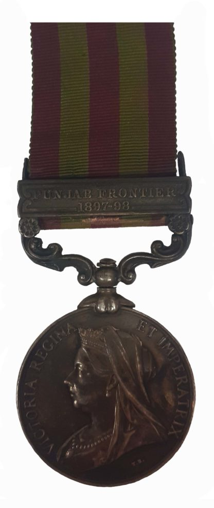 India Medal 1895-1902, QVR, one clasp Punjab Frontier 1897-98 to Sergeant A. Firman