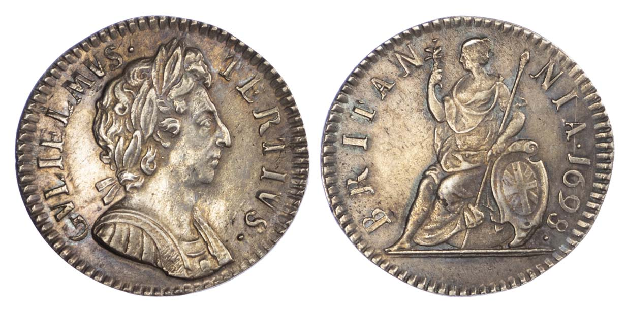 William III (1694-1702), Silver Proof Farthing, 1698