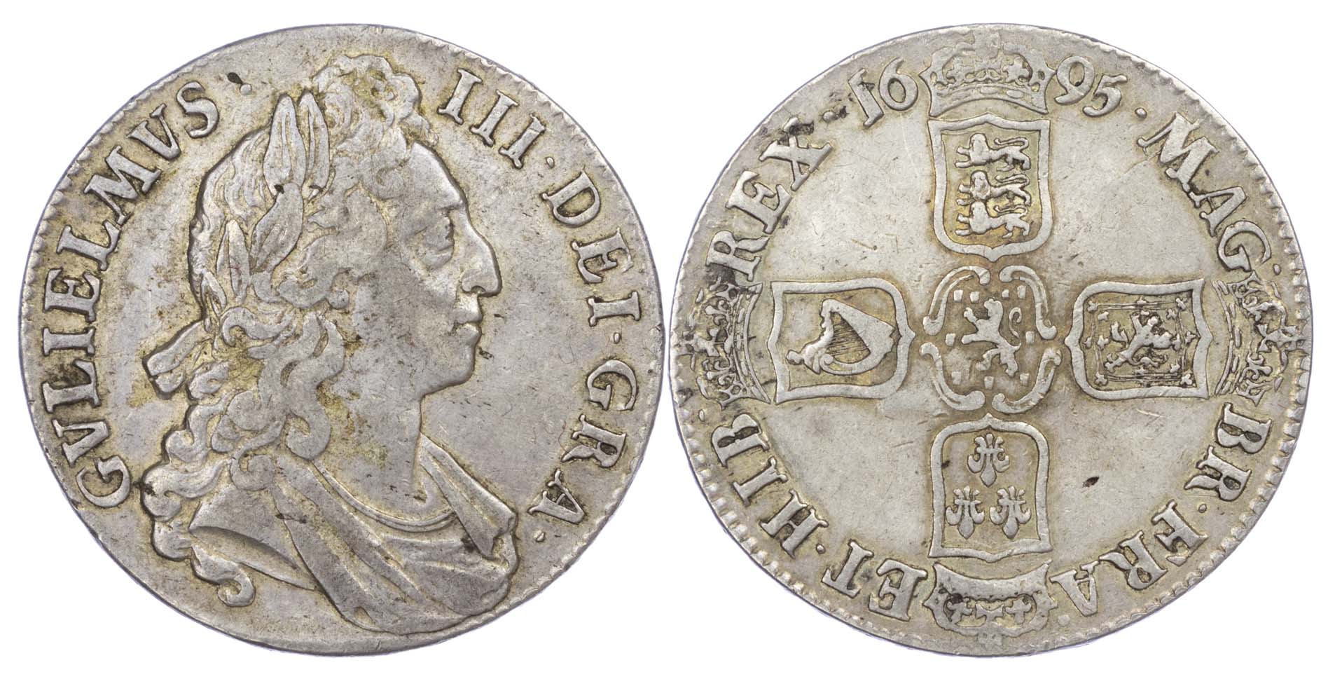 1696 William III Crown SEPTIMO