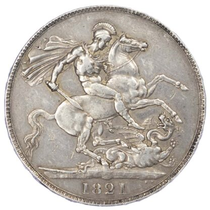 George IV (1820-1820), 1821 Crown, Secundo Edge