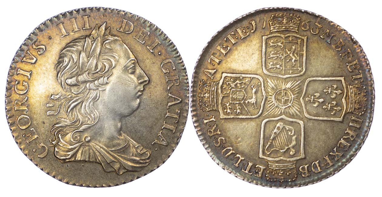 1763 Northumberland George III Shilling Extremely Fine or better